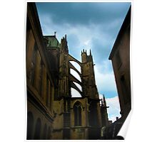 Storm clouds and flying buttresses Poster