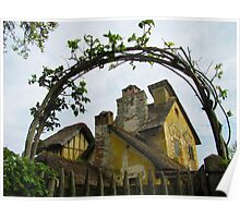 Fairy Tale Cottage Poster
