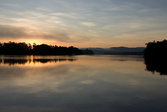 Tropical  Winter Dawn ~ Johnstone River Junction, Innisfail, FNQ.  by Kerryn Madsen-Pietsch