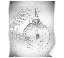 Christmas bulb Poster