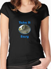 Sloth T-shirt - Slothful - Take It Easy - Tee Women's Fitted Scoop T-Shirt