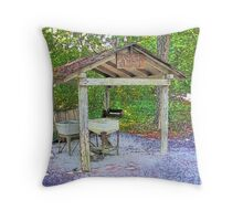 The Old Wash Shed Throw Pillow