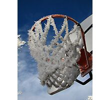 Frosty Basketball Hoop Photographic Print