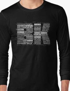 Typographic BK Brooklyn New York Long Sleeve T-Shirt