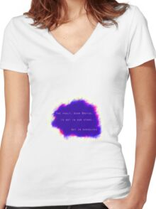 The Fault Dear Brutus Women's Fitted V-Neck T-Shirt