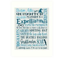 Harry Potter - All Quotes  Art Print