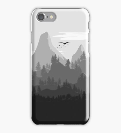 Landscape In Greyscale iPhone Case/Skin