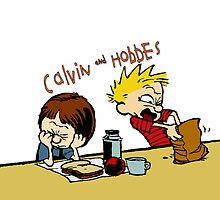 Calvin and Hobbes by alcomindra