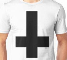 Upside Down Black Cross Unisex T-Shirt