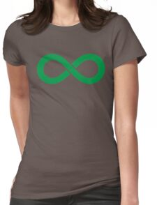 Infinity Green Womens Fitted T-Shirt