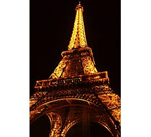 Glowing Gold Eiffel Photographic Print