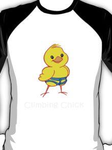 Climbing chick geek funny nerd T-Shirt