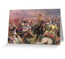 Charge of The Heavy Brigade Waterloo 1812 Greeting Card