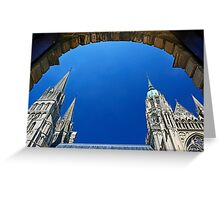 Bayeux Cathedral Greeting Card