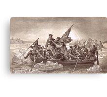 Washington Crossing Delaware Christmas Night  Dec 25 1766 Canvas Print