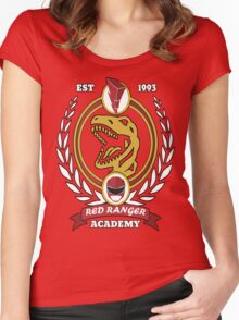 Red Ranger Academy Women's Fitted Scoop T-Shirt