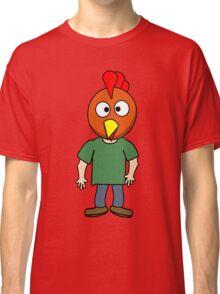 Crazy chicken dude cartoon graphic mens geek funny nerd Classic T-Shirt
