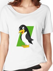 Cute penguin cartoon Women's Relaxed Fit T-Shirt