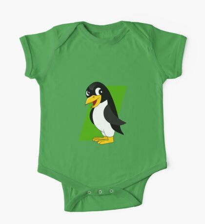 Cute penguin cartoon One Piece - Short Sleeve