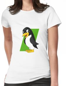 Cute penguin cartoon Womens Fitted T-Shirt