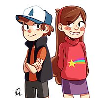 Dipper and Mabel - Gravity Falls Photographic Print