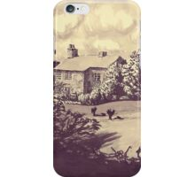 house in grounds- pen & ink iPhone Case/Skin