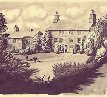house in grounds- pen & ink by roblallen