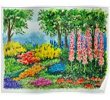 THE KEUKENHOF IN 2009 - WATERCOLOR PAINTING Poster