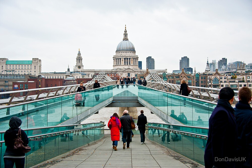 St Paul's Cathedral from Millennium Bridge. by DonDavisUK