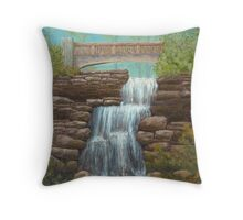 Waterfall At East Hampton Throw Pillow