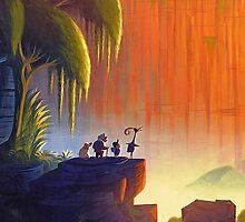 UP (Disney)- Russell, Mr. Fredricksen, Dug, Kevin by emapremo