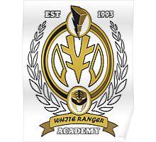 White Ranger Academy Poster