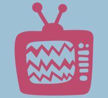 Vintage Pink Cartoon TV Kids Clothes