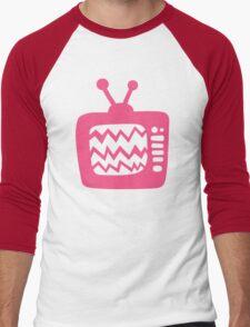 Vintage Pink Cartoon TV Men's Baseball ¾ T-Shirt