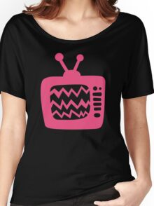 Vintage Pink Cartoon TV Women's Relaxed Fit T-Shirt