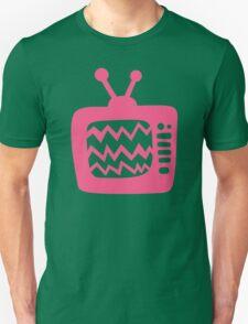 Vintage Pink Cartoon TV Unisex T-Shirt