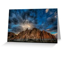 Clouds on the Rocks Greeting Card