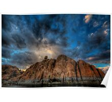 Clouds on the Rocks Poster