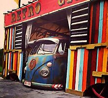 Retro cars by Sharon Poulton