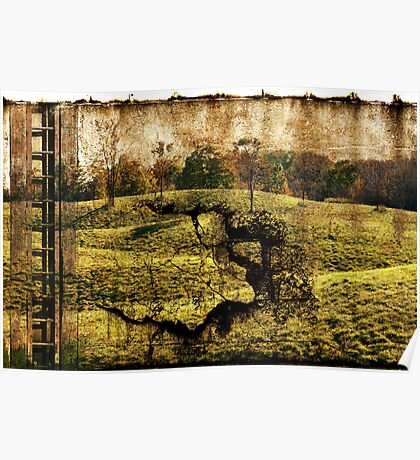 landscape with the ladder Poster