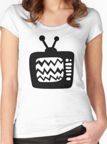 Vintage Cartoon TV Women's Fitted Scoop T-Shirt