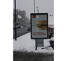 There's a difference at Mac Donalds Photographic Print