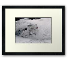 Snow Drift Framed Print