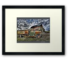 Dumper And A Barn Framed Print