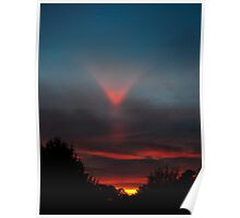 Upper Tangent Arc - Sunset 12-23-2010 Poster