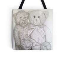 teddy bears in pencil Tote Bag