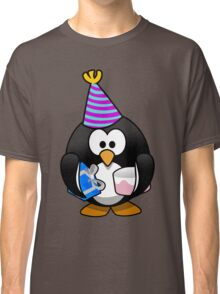 Personalized birthday card penguin geek funny nerd Classic T-Shirt