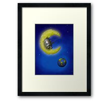 The Fishing Moon Framed Print