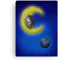 The Fishing Moon Canvas Print