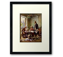 Writing The Declaration of Independence Framed Print